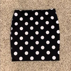 The Limited Polka Dot Pencil Skirt